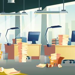 organização no ambiente de trabalho